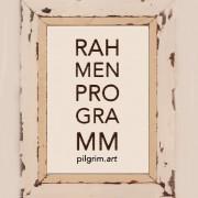 """Flyer zur Ausstellung """"Rahmenprogramm"""" von Roman Pilgrim"""